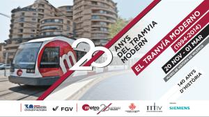 exposición 20 aniversario del tranvía de Valencia