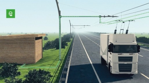 Siemens testet System zur Elektrifizierung von Lkws / Siemens tests electric-powered system for heavy good vehicles