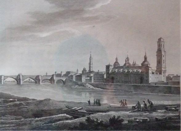 Zaragoza. Vista del Pilar y el Ebro 1806