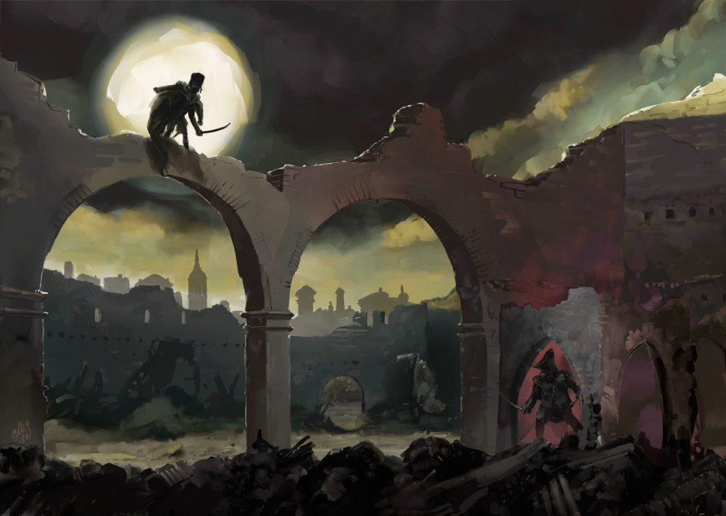 En las Ruinas de Santa Engracia