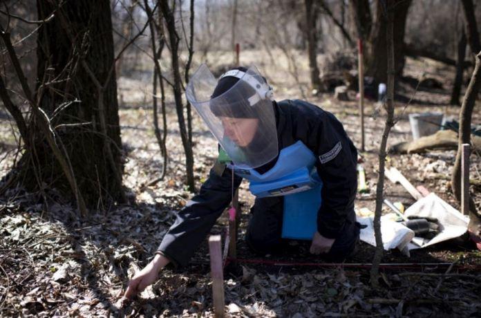 Minas terrestres en Ucrania