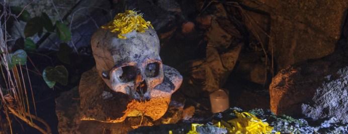 Brenda Islas @brendaislas Altar con cráneo para el Día de Muertos en Tres Reyes, Quitana Roo, México