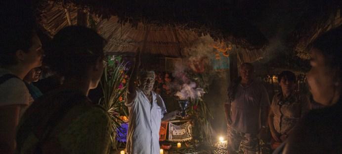 Brenda Islas @brendaislas Ceremonia del Día de Muertos en Tres Reyes, Quintana Roo, Mexico