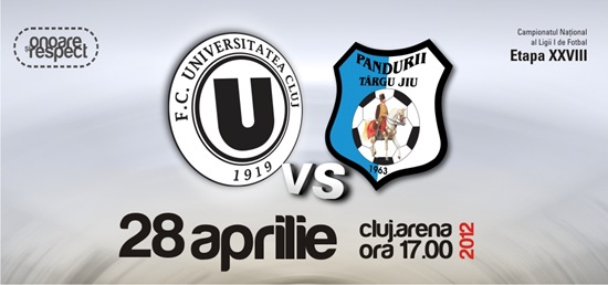 U Cluj vs Pandurii Tg Jiu