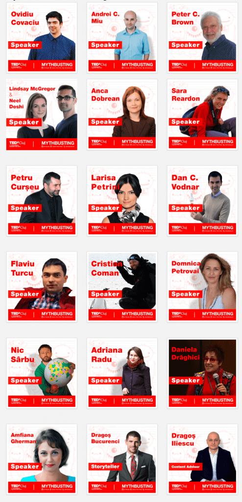 Speakeri TEDxCluj 2016