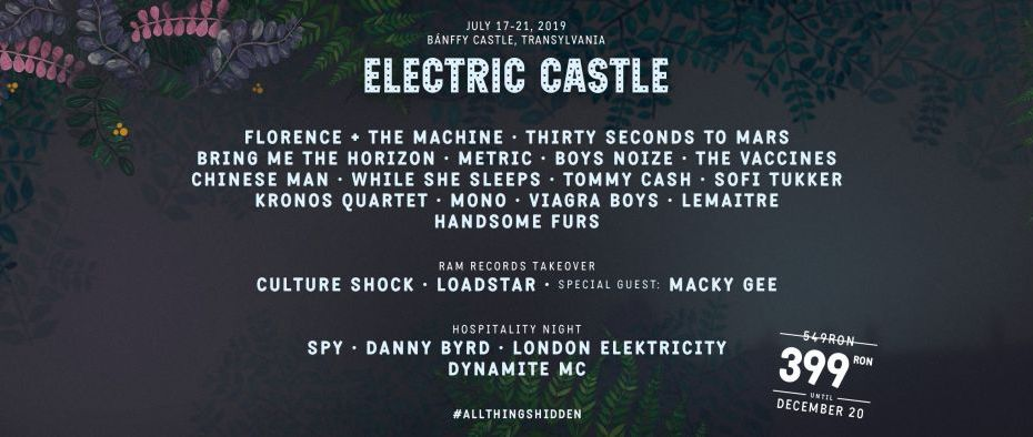 Electric Castle 2019 - primul val de artiști: Florence + theMachine, 30 Seconds to Mars, Bring Me the Horizon.