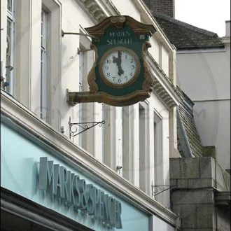 Falmouth Marks and Spencer clock