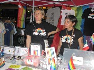 Emiliana (a destra) con la compagna Lorenza