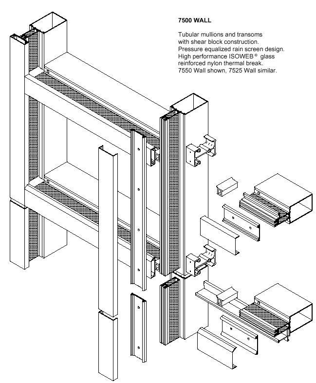 Curtain Wall Installation Details : Kawneer curtain wall details integralbook