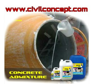 types of admixture used in concrete