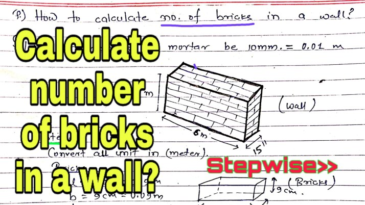 How to calculate number of bricks in a wall