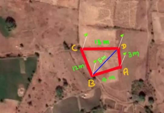 calculate area of irregular land