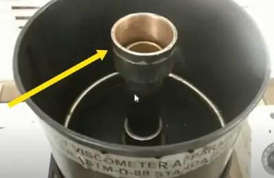 Viscosity test of bitumen