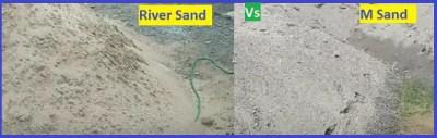 M sand vs River sand