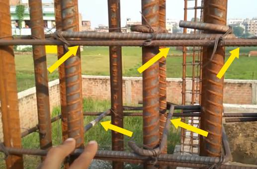 Column reinforcement details- As Per- IS456-2000