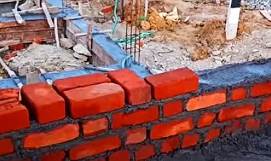 Cement required for brickwork