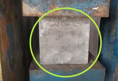 Compressive strength of cement -(Procedure and formula for Test)