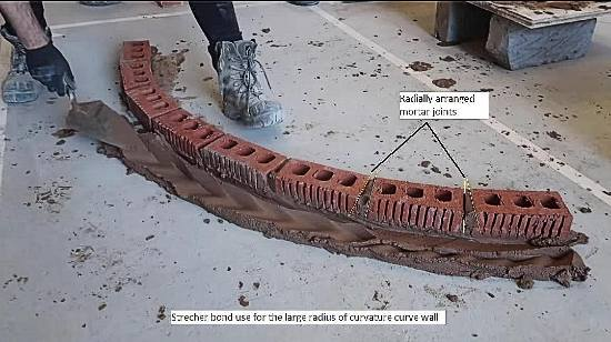 How to build a curved brick wall? Step by Step Procedure