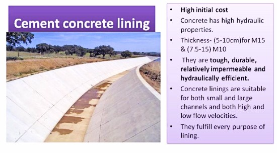 Requirements, Advantages, Disadvantages, and Types of Canal lining