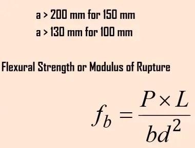 How to Calculate flexural strength of concrete? | Flexural strength formula