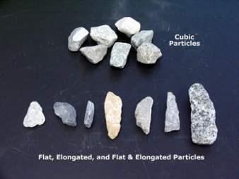 shape of aggregates in concrete