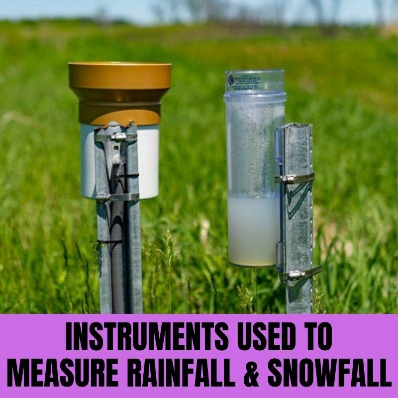 Instruments Used to Measure Rainfall & Snowfall