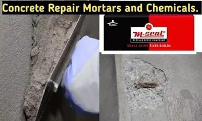 concrete repair mortar and chemicals