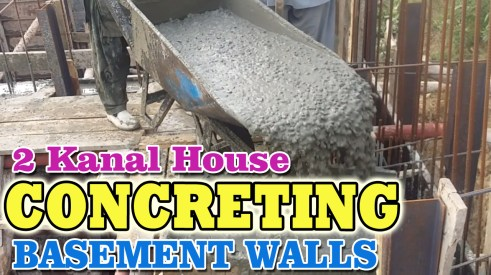 Concreting Retaining Walls RCC | 2 Kanal House Basement