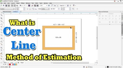 What is center line method of estimation ?