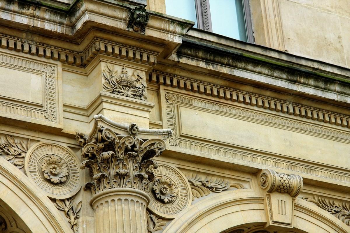Panelled parapet wall design