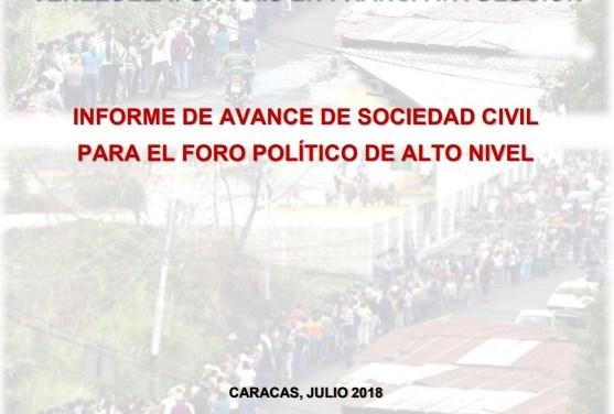 Informe Sinergia: Agenda 2030 y Emergencia Humanitaria: Venezuela, un país en franca involución