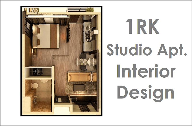 1rk Studio Apartment Interior Design on 800 Square Feet 2 Bedroom Apartment Plan