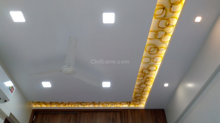 False Ceiling Cost Installation Rates With Material Civillane