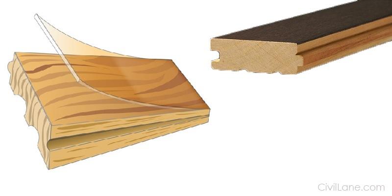 Solid hardwood flooring sample