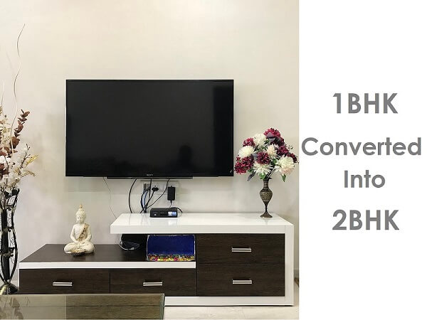 Converted 1BHK to 2BHK