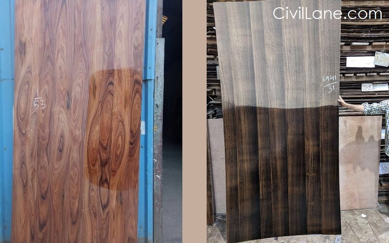 Wood veneer samples mumbai