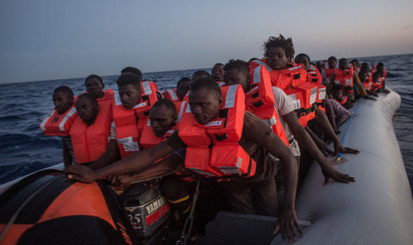 Boatload of African men heading to Europe