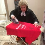 THE SIGNED SECRET BARRISTER T-SHIRT: NOW SILKY SMOOTH:   NOW ARRIVED AT THE LAST STAGE OF ITS JOURNEY