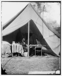 Abraham Lincoln Meeting with George McClellan at Antietam, 1862