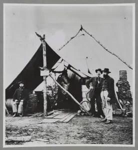 Civil War Meat Hanging in Tent