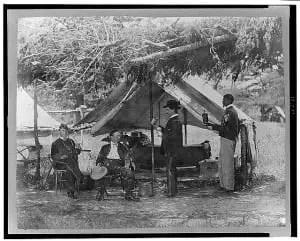 Civil War Soldiers Drinking Beverages