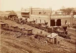 Nashville Tennessee Railroad Depot, 1864