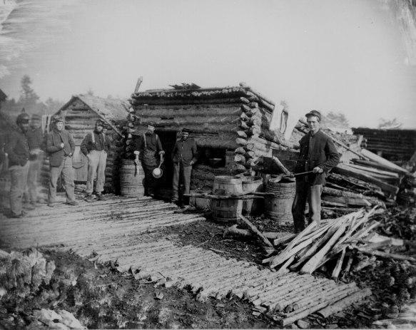 Winter Camp, Union soldiers outside of kitchen