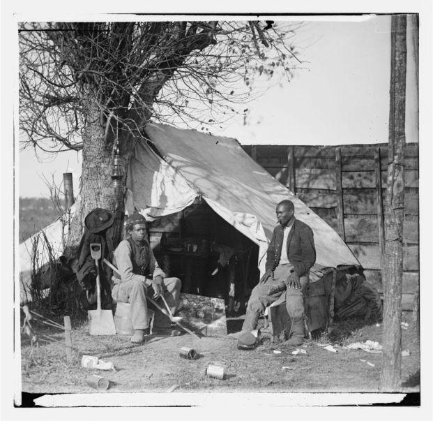 Contraband Slaves in Union Camp, Culpepper VA 1863