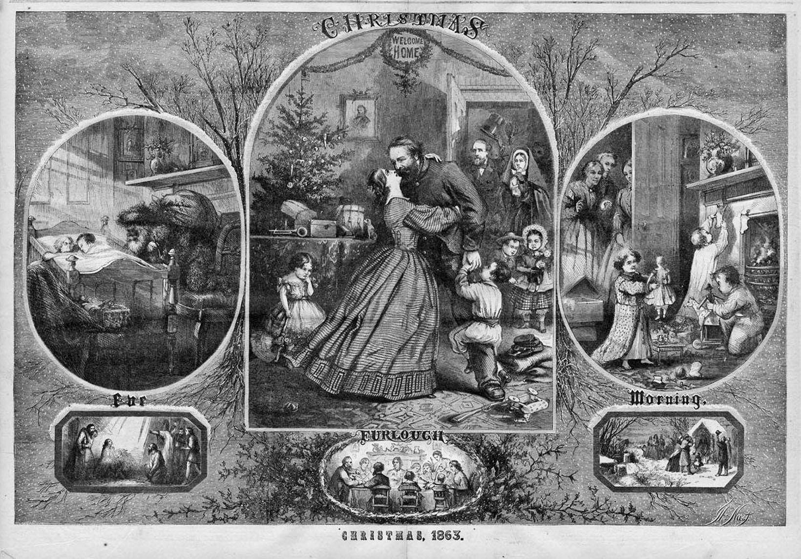 Thomas Nast And Santa Claus In The Civil War Civil War