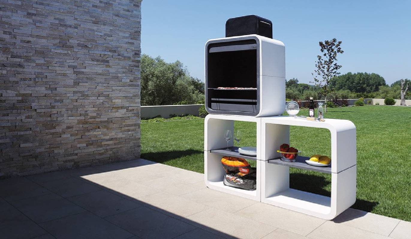 mobilier exterieur barbecue design moderne cj creations