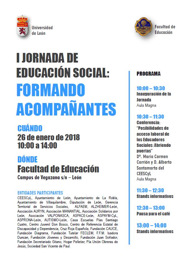 I Jornada De Educación Social: Formando Acompañantes