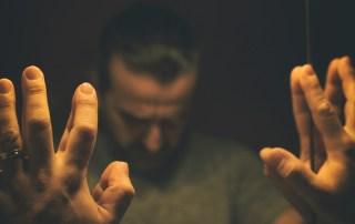 man facing anxiety & depression