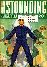 Astounding Stories Cover for 'By His Bootstraps'