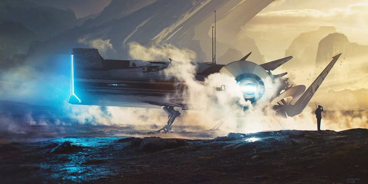 """cinemagorgeous: """"Stunning sci-fi art by Bastien Grivet. """" Well, I'm more dazed than stunned, but yeah."""